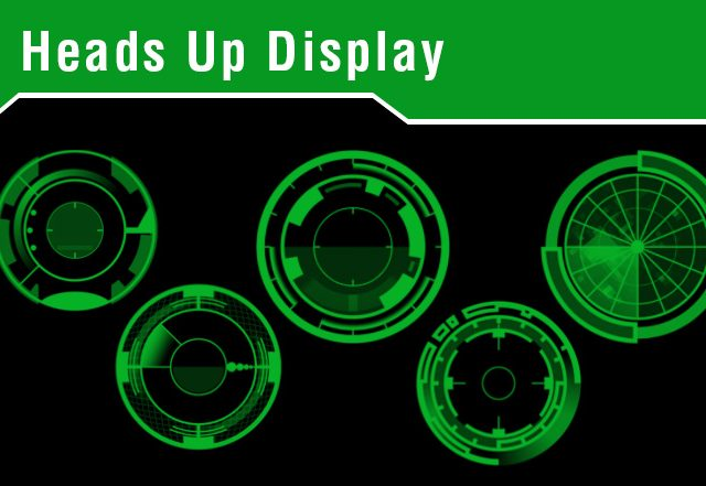 Heads Up Display Photoshop Brushes